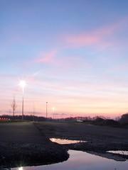 Sunrise Reflex (Ten Studios) Tags: sky sun water sunrise honda accord 99 metropolis rise coupe reflextion dx6490