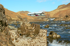 Old and new (Victory Rose) Tags: winter cold river iceland day very sunny structure hverageri