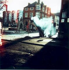 Whitechapel Road (Jono 01) Tags: london film landscape holga xprocess 2006 howwearenow