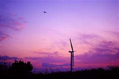 Windmill /  (*Sakura*) Tags: sky film japan tokyo purple kodak sakura e100vs