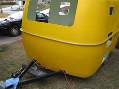 Boler Week 4: The Belly Band (petramarcemilyaudrey) Tags: restoration trailer fiberglass rv camper 1976 traveltrailer refurbish refurbishing boler