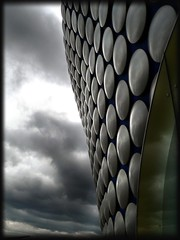 God bless the Bullring! (janinehealy) Tags: city uk england cloud color colour building clouds digital buildings fz20 grey birmingham moody gloomy cloudy panasonic colourful citycentre janine dmc bullring brum lecia janinehealy