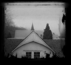 untitled (marie_123) Tags: old houses white house black home church window strange buildings community view cross who antique unique perspective eerie boredom creepy neighborhood spooky odd where frame what neighbor wellframed