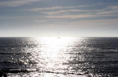 sunboat (lanier67) Tags: sunset sea sky sun praia beach portugal porto ingleses