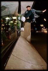 MelcherGlassRide1 (candersonclick) Tags: reflections skateboarding nightshots wallride frontside skateboarders gingers dekline melcher glassride