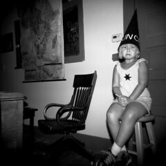 School Days... (annabelletexter) Tags: city school blackandwhite house boot holga funny hill grace kansas dodge dunce