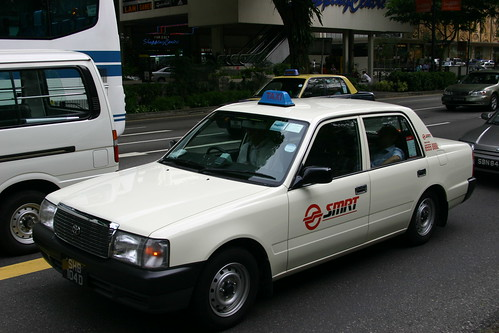 SMRT taxi as seen on Flickr
