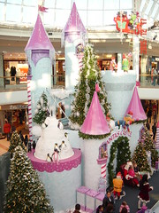 DSC00290 (Faded Photograph) Tags: christmas pink trees people castle art colors mall scenery spires end mississauga sleigh christmas05 decors favorited dislay square1 santascastle wowed onecentshot