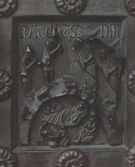 Pisa Cathedral door (groenling) Tags: angel bronze bath shepherd jesus birth pisa nativity shawm nativitas angemusicien mmiia