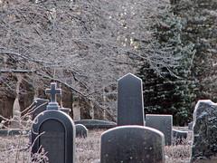 hautuumaa huurteessa (Marko_K) Tags: winter 15fav cemetery graveyard mrjackfrost tag3 taggedout tag2 tag1 top20cemetery