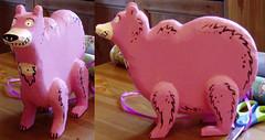mini were-bear (Chief Ten Bears) Tags: bear wooden craft folk art handmade mos december 2005