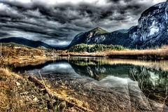 Squamish River Estuary(1) (Alpine Climber) Tags: squamish bc britishcolumbia canada thechief rockclimbingarea granitemonolith water squamishriverestuary 3imagesalignedandcombined convertedtohdr hdr tonemapped postprocessed