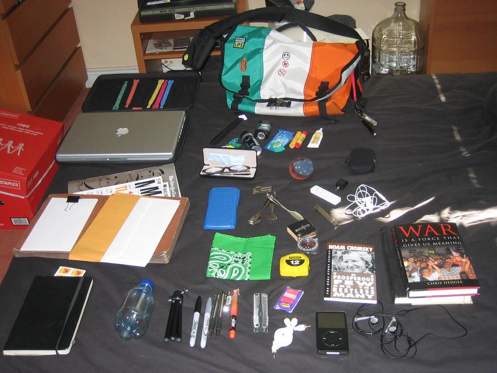 My Irish Timbuk2 & its contents