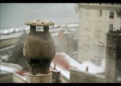 Cheminée (Nitram De Lyon) Tags: roof winter chimney snow france geotagged lyon smoke hiver roofs neige cheminée rhone toits fumée