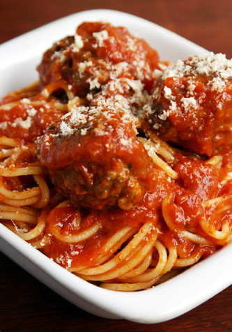 spaghetti and meatballs by chocolate monster mel.