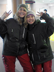Kate and Tomoko (vfowler) Tags: winter portrait 15fav woman snow japan hiroshima    osa   persontanitomo flickr:userid=69561905n00
