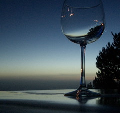 Happy New Year! (jurvetson) Tags: ocean topf25 glass venus wine dusk toast bigsur hottub 500plus20 happynewyear postranchinn spselection frhwofavs