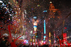 Goodbye 2005, Hello Two Thousand and Awesome! (@superamit) Tags: nyc newyorkcity nye interestingness1 confetti timessquare newyearseve newyearseve2005 newyears2005 newyears2006