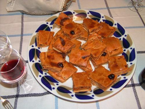 Spain: Galician pie. Empanada gallega.