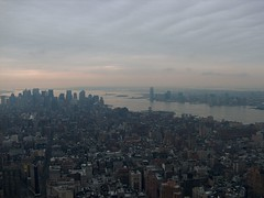 Cloudy Day in the Big City (Aaron Webb) Tags: newyorkcity buildings empirestatebuilding observationdeck