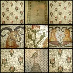 Mosaïque au Phénix, détails - by Antiquité Tardive