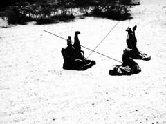 X (POOR IMPULSE CONTROL) Tags: f11 sormani statue hunt caccia spear lancia beast bestia snow neve bw bianconero