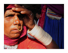 Lakshmi Bai (Elishams) Tags: red portrait india geotagged women indian faith tribal nosering dailylife indianarchive lambadi inde southindia travelstory andhrapradesh भारत tirumala 50millionmissing elishams noseringthefeminine