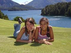 llao llao (virginiaz) Tags: friends woman patagonia lake argentina lago holidays sur bariloche llaollao virginiaz