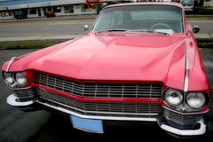 Pink Caddy III (Living Juicy) Tags: pink car altered cadillac grill livingjuicy pinkcaddy lj2006
