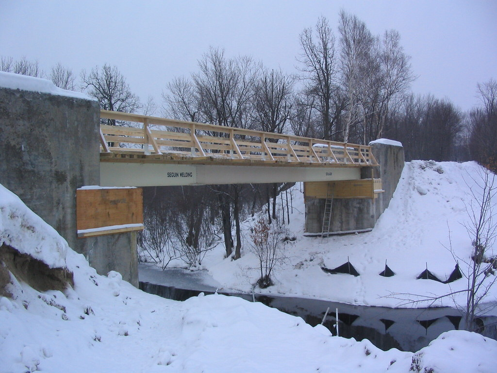 snow, bridge