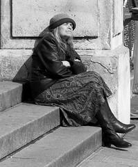 On the steps of Sacre Coeur - Paris (Black & White) (Citron Guy) Tags: portrait paris tag3 taggedout blackwhite interestingness europe tag2 tag1 sacrecoeur explore 75018 rateme17 rateme28 222v2f flickrexplore iwantse7en 74points