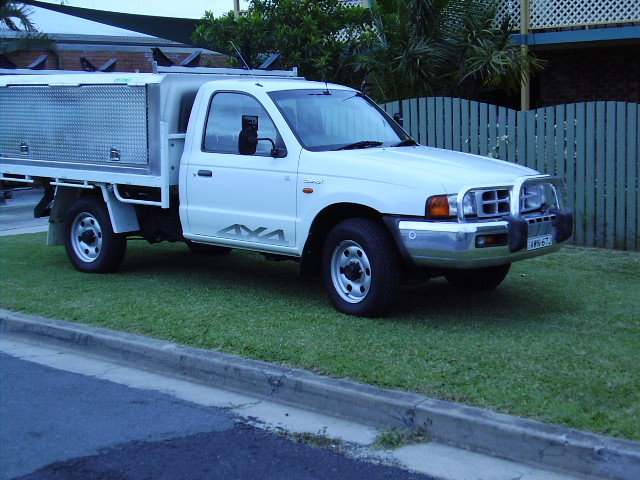 vehicle we will use for round paddock trip 25 litre turbo diesel ford courier