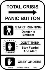 Total Crisis Panic Street Sign