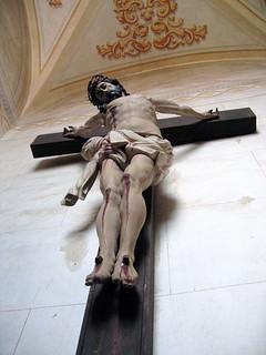 Jesus in pain on the cross
