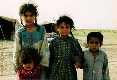 Iraqi Bedouin Childern (DigitalTribes) Tags: children war peace child iraq arab 1991 iraqi dt bedouin desertstorm digitaltribes operationdesertstorm markoneil