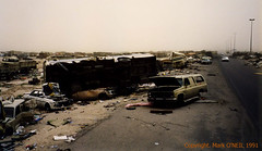Retreat (DigitalTribes) Tags: death bush war peace iraq 1991 kuwait dt desertstorm highwayofdeath digitaltribes operationdesertstorm markoneil