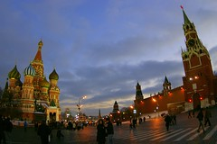 (Red Square through a Fisheye?) (AlphaTangoBravo / Adam Baker) Tags: blue winter red sky star russia moscow fisheye redsquare zenitar  zenitar1628fisheye