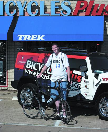 Shawn Bradley and His Custom Built Bike