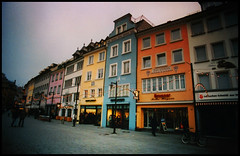 white, orange, blue, yellow, white, pink, grey etc. (maxivida) Tags: konstanz constance pedestrianzone germany january winter bleak white yellow blue orange pink grey maxivida gutentag gloomyheart
