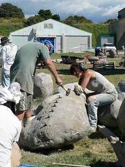 Day 20 splitting rock (te_kupenga) Tags: brettcooper renateverbrugge kupenga gen06 2006 day20 triptych