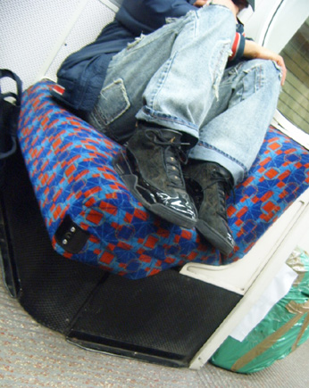 Feet on Tube seats