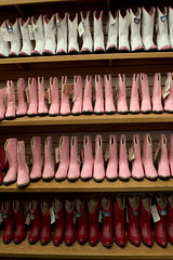 purdy in pink (Orrin) Tags: pink girls red white cute boot lenstagged cowboy boots womens western topv777 cowgirl purdy shelves canonef2470mmf28lusm 2470l prettyinpink cowboyboots kute psychedelicfurs bootbarn