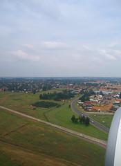 Landing in Johannesburg