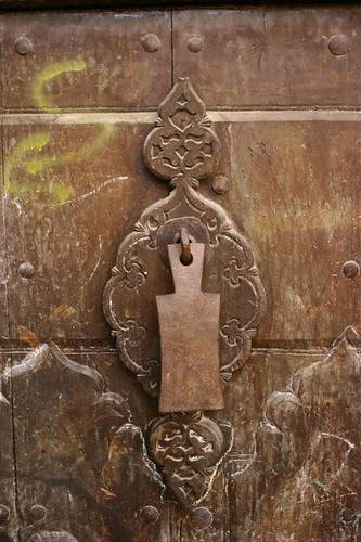 old map of yemen. Old door handle - Yemen