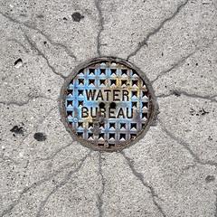 Crazed Blue Water Bureau (~db~) Tags: blue water bureau utility cracks utilities accesscovers accesscover waterbureau