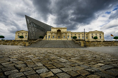 Military History Museum - Dresden (aproudlove) Tags: city sky building history museum architecture modern clouds dresden military historic classical 2015 dresdentrip sonya6000
