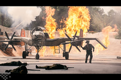 Aaaaannd.....I'm Outta Here! (tltichy) Tags: show spectacular airplane dead fire fight orlando florida wwii explosion indy disney resort wdw waltdisneyworld epic indianajones stunt badguys hollywoodstudios may2015