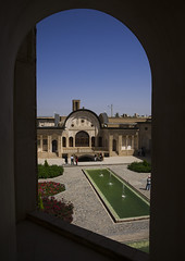 Courtyard Of Tabatabei Historical House, Isfahan Province, Kashan, Iran (Eric Lafforgue) Tags: travel houses house building water vertical architecture garden outdoors photography persian pond asia day iran middleeast persia bluesky courtyard palace basin historic east iranian sight copyspace oriental orient eastern groupofpeople kashan locations kachan islamicarchitecture elegance destinations basins traveldestinations  prestigious  5people colourimage  iro isfahanprovince iranianculture   historicalresidence iran150765