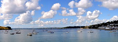 St Mawes Panorama 2 . Nikon D3100, DSC_0012-0018. (bobchin1941) Tags: sea sky panorama clouds landscape coast seaside unitedkingdom harbour outdoor shore gb stmawes arcsoft stitchedimage thesouthwest riverfal carrickroads picturesquevillage d3100 nikond3100 arcsoftpanoramamaker5pro theroselandpeninsular sigma18250mmf3563dcmacrooslens thesouthcoastofcornwall tr25an
