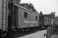 Caboose (bergytone) Tags: bw film analog train minolta caboose 100 himatic 114 kentmere himatic7s ilfosol3